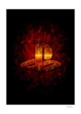Glowing PlayStation