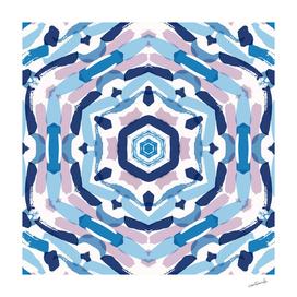 Blue Kaleidoscope Mandala