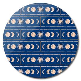 Sacred Geometry. Sun and moon