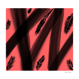 Abstract Tropical Art Brush Strokes