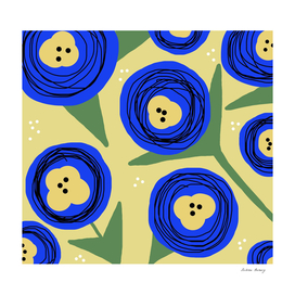 Poppy Doodle Bold Florals -Yellow