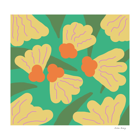 Yellow Spring Bold Florals
