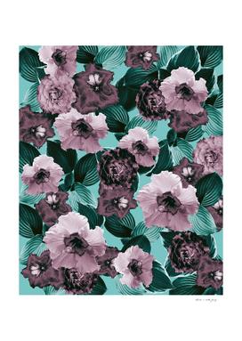 Mauve Floral Garden Glamor #1 #floral #decor #art