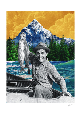 Orange Sky Fisherman Print