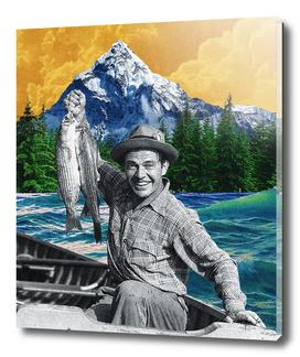 Orange Sky Fisherman Print