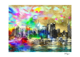 Rainbow NYC Skyline