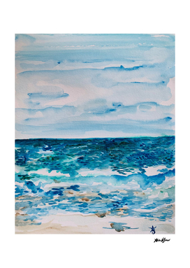Cabo Beach Mexico Watercolor #1