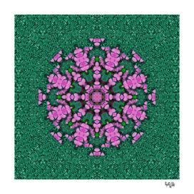 the most uniqe flower star in ornate glitter