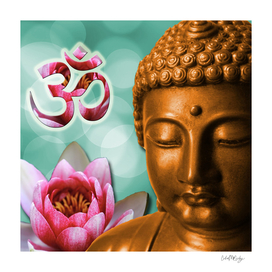 Buddha Lotus Flower & Crown Chakra