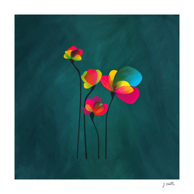 Abstract exotic flower, painting