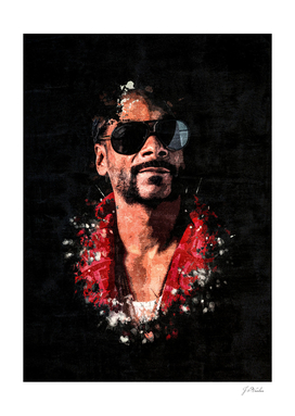 Snoop Dogg Splatter Painting