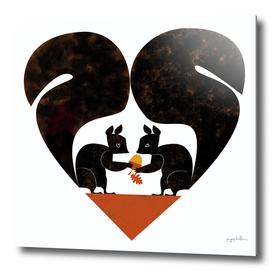 St Valentine Squirrels Lovers