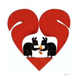 St Valentine Squirrel Lovers