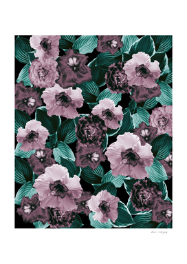 Mauve Floral Garden Glamor #2 #floral #decor #art