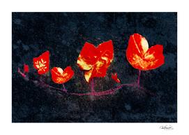 Grunge Floral Collage Design