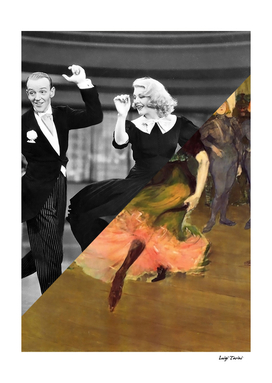Toulose Lautrec's Dance at the Mouline Rouge & Ginger Rogers