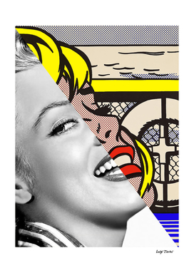 Lichtenstein's Sailboat Girl & Marylin Monroe