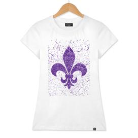 Heraldic lily purple