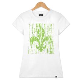 Heraldic lily green