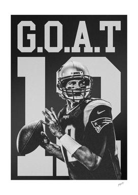 TOM BRADY G.O.A.T Poster