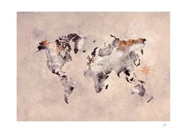 world map grey brown #map #world