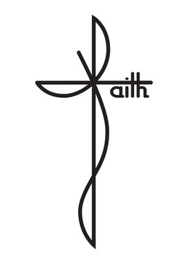 Faith - Typographic Lettering Art - Black Color Model