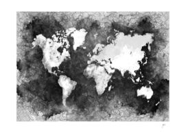 world map black and white #map #world