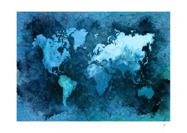 world map blue #map #world