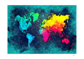 world map colors #map #world