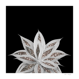 Gray Agave with Silver Glitter #1 #shiny #tropical #decor