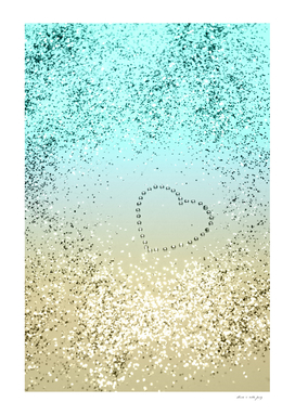 Sparkling Lemon Twist Beach Glitter Heart #2 #shiny #decor