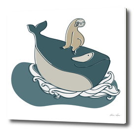 A sloth and a whale