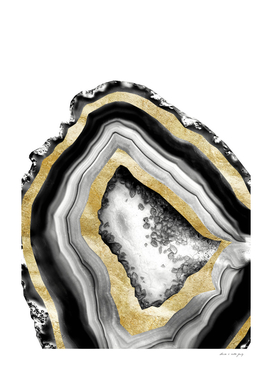 Agate Gold Foil Glam #1 #gem #decor #art