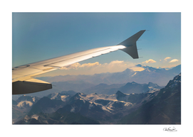 Chilean Andes Mountain Aerial View