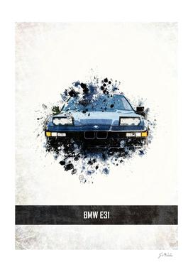 BMW E31 Splatter Painting