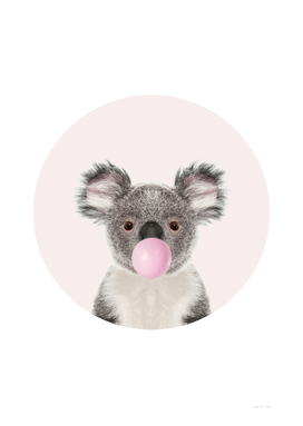 Koala Bear with Bubble Gum