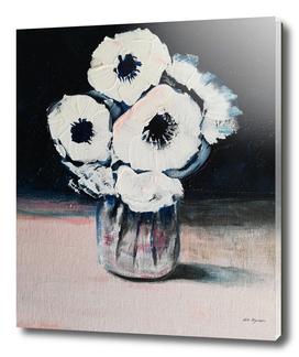 White anemone flowers