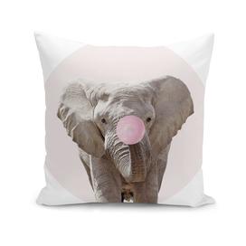 Elephant With Bubble Gum