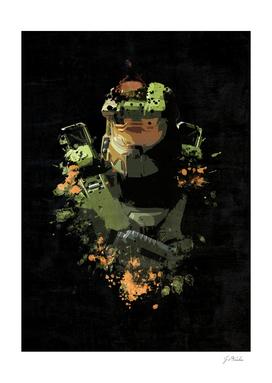 Halo Soldier Splatter Painting