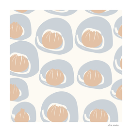 Dusty Blue Grey Terracotta Pattern