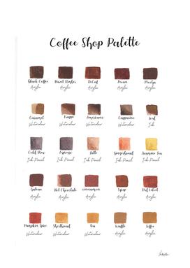 coffee shop palette