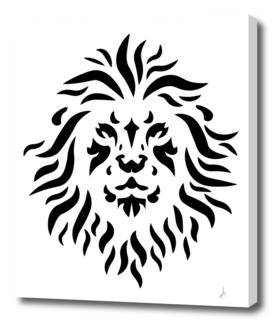 Black lion lineart