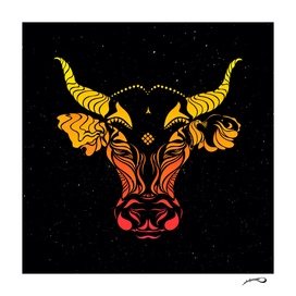 Dark angry cattle in the wind by #Bizzartino