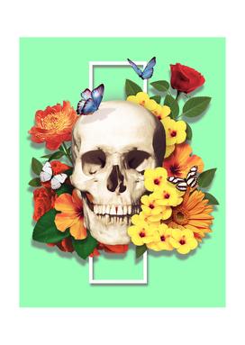 Vibrant Flowery Skull - Flowery Bones Series
