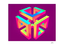 Pop Art 3D Cube