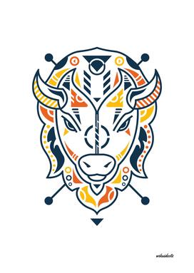 Unique Bison Head