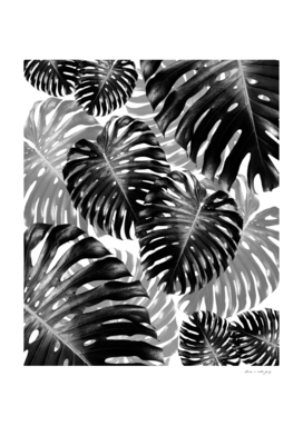 Tropical Monstera Jungle Leaves Pattern #3 #tropical #decor