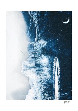 Starry Ocean Night by GEN Z