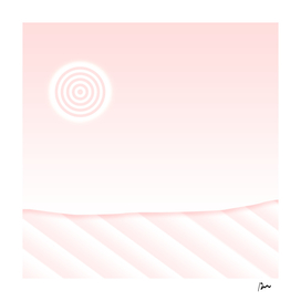 abstract lined landscape