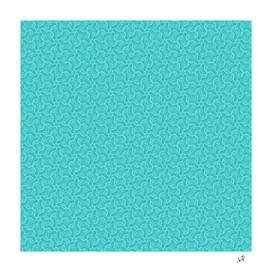 Original Handmade Pattern - Turquoise Swirl